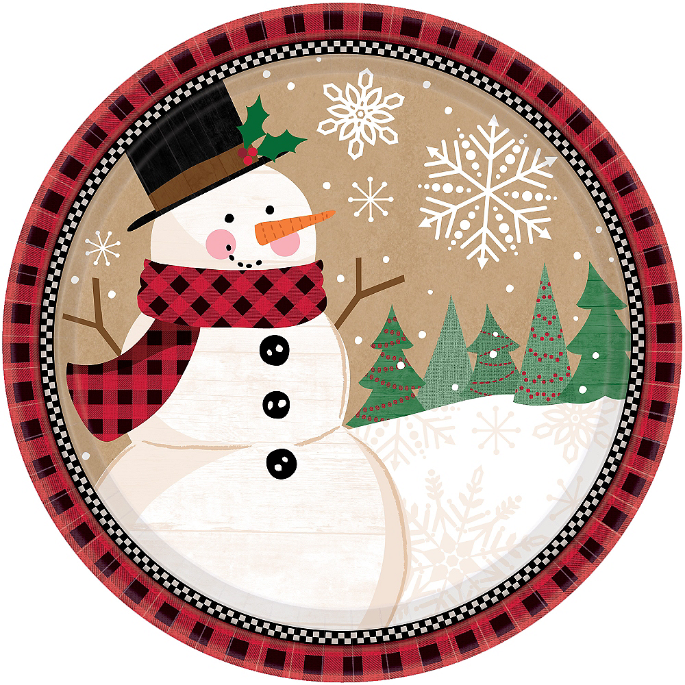 Nav Item for Winter Wonder Snowman Dinner Plates 8ct Image #1