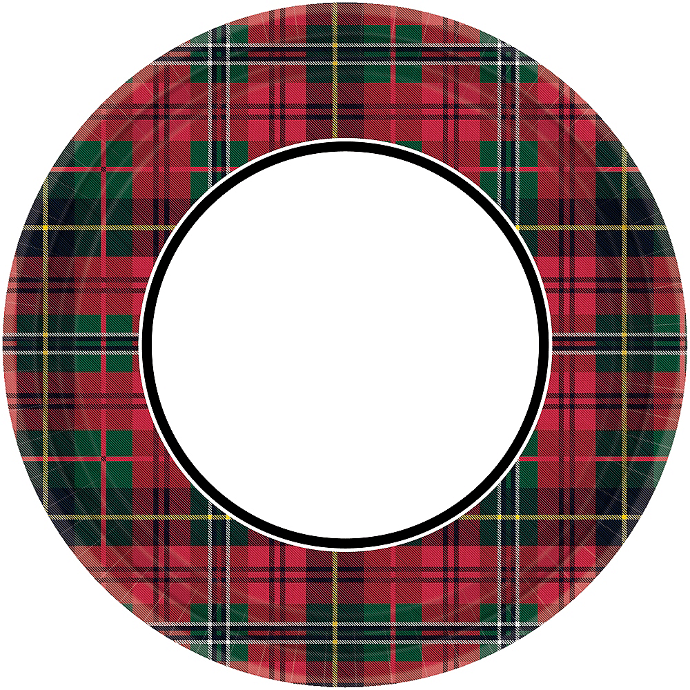 Holiday Plaid Lunch Plates 60ct Image #1