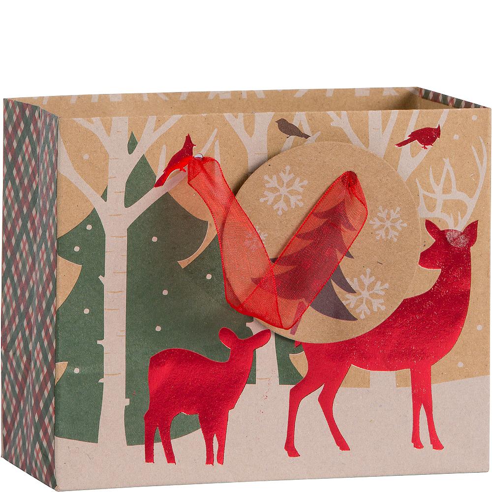 Mini Reindeer Crossing Kraft Gift Bag Image #1