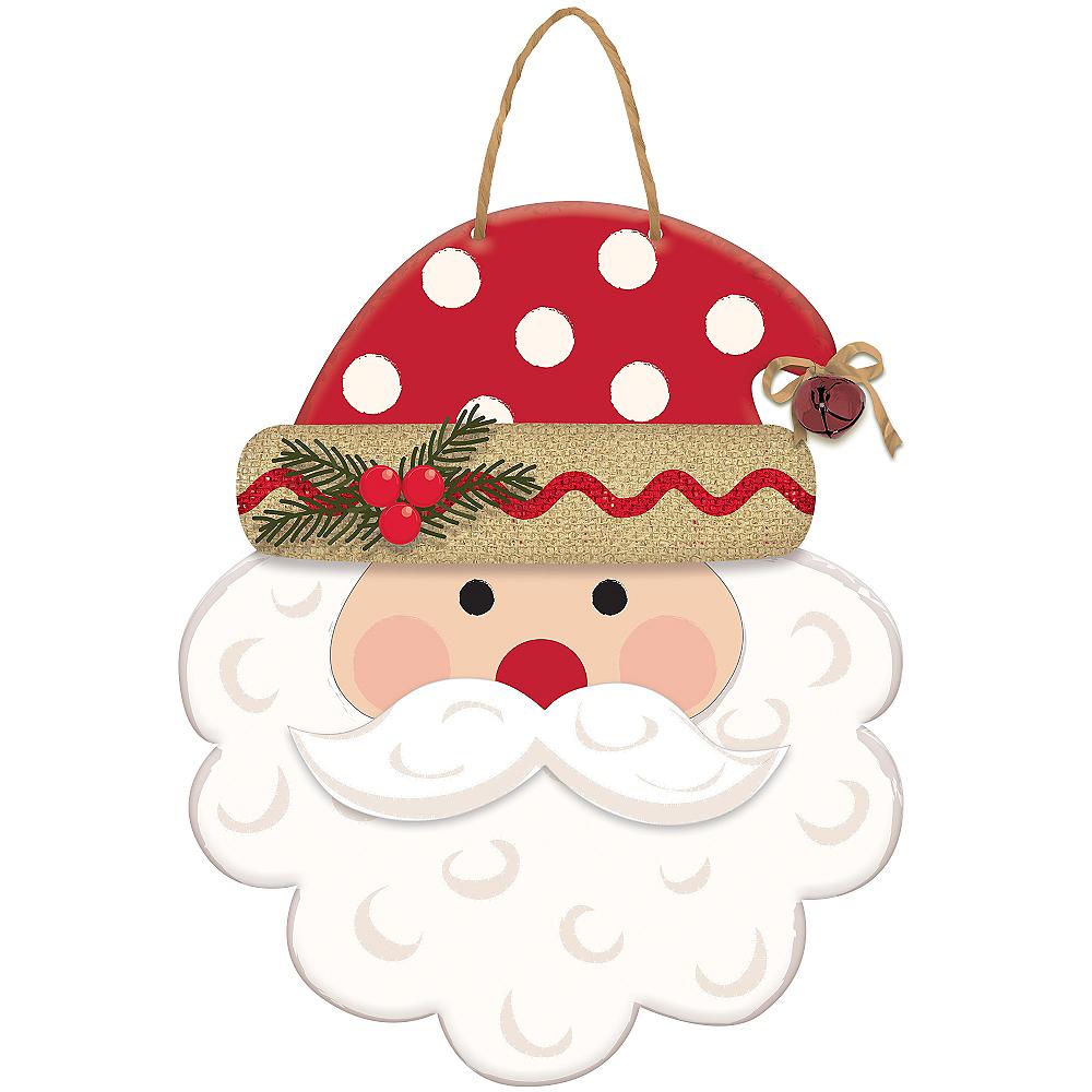 Polka Dot Santa Sign Image #1