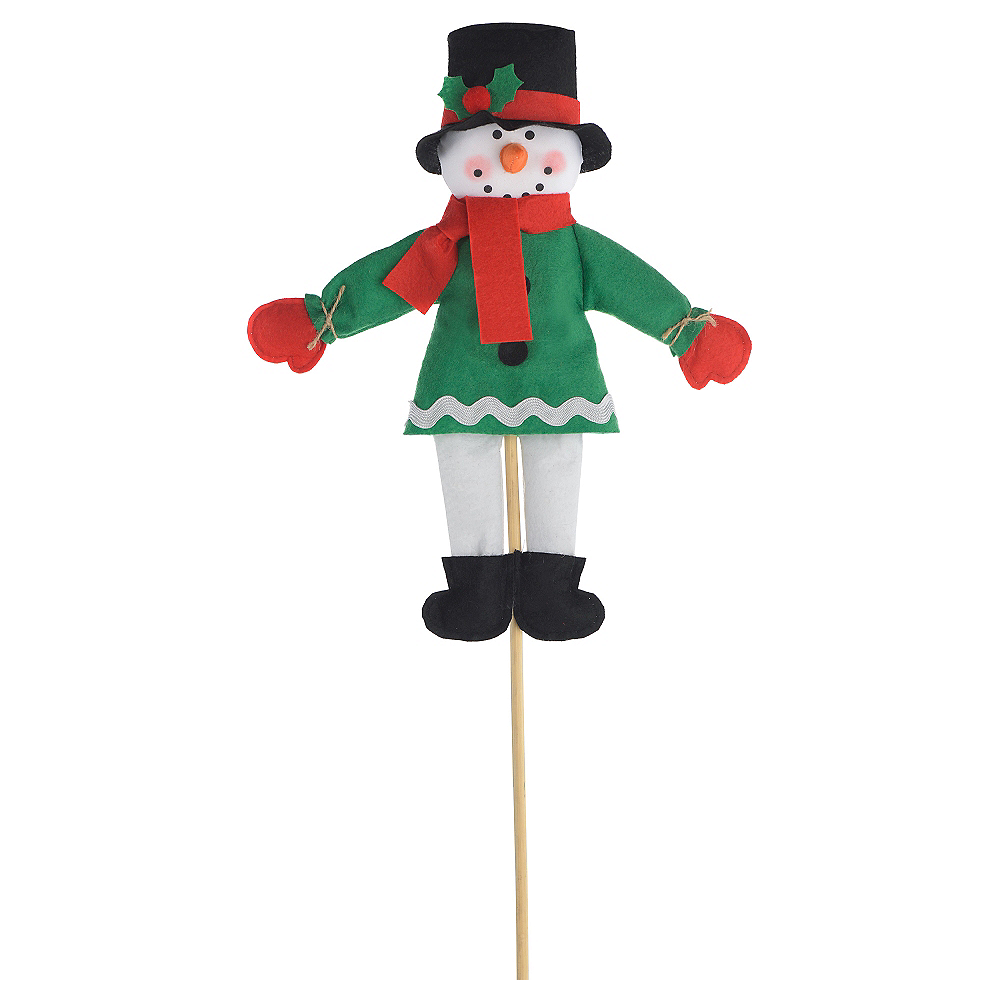 Mini Friendly Snowman Yard Stake Image #1