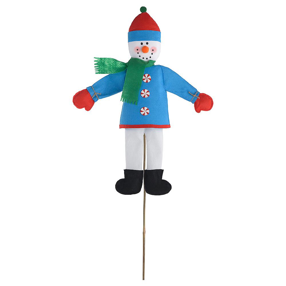 Friendly Snowman Yard Stake Image #1