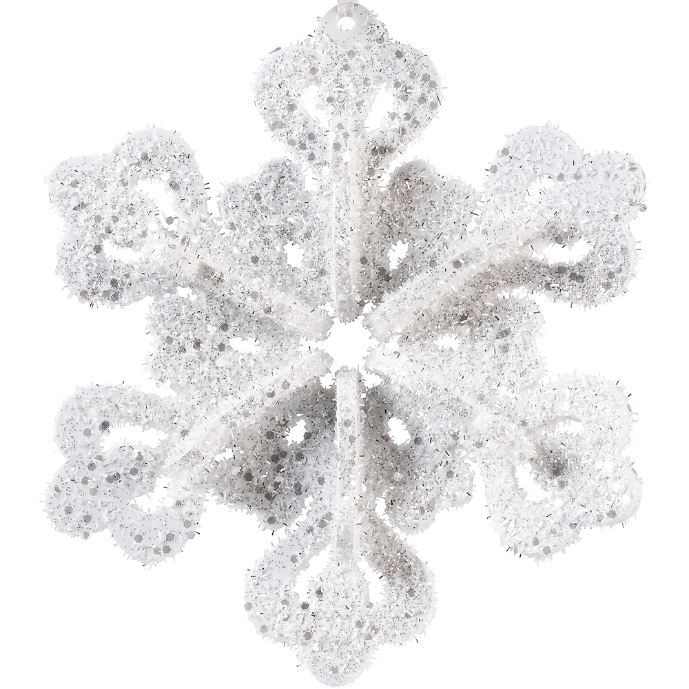 Glitter Foam Snowflake Image #1