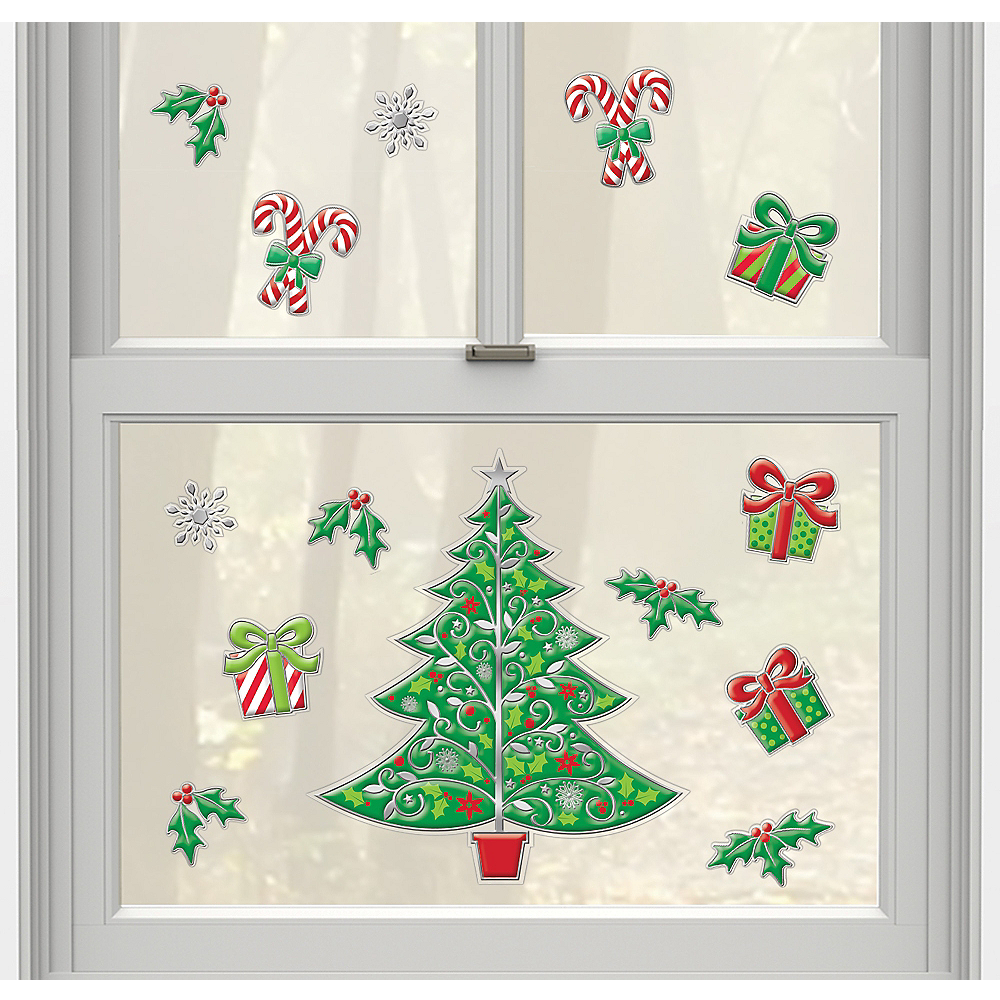 christmas tree decals 14ct image 1