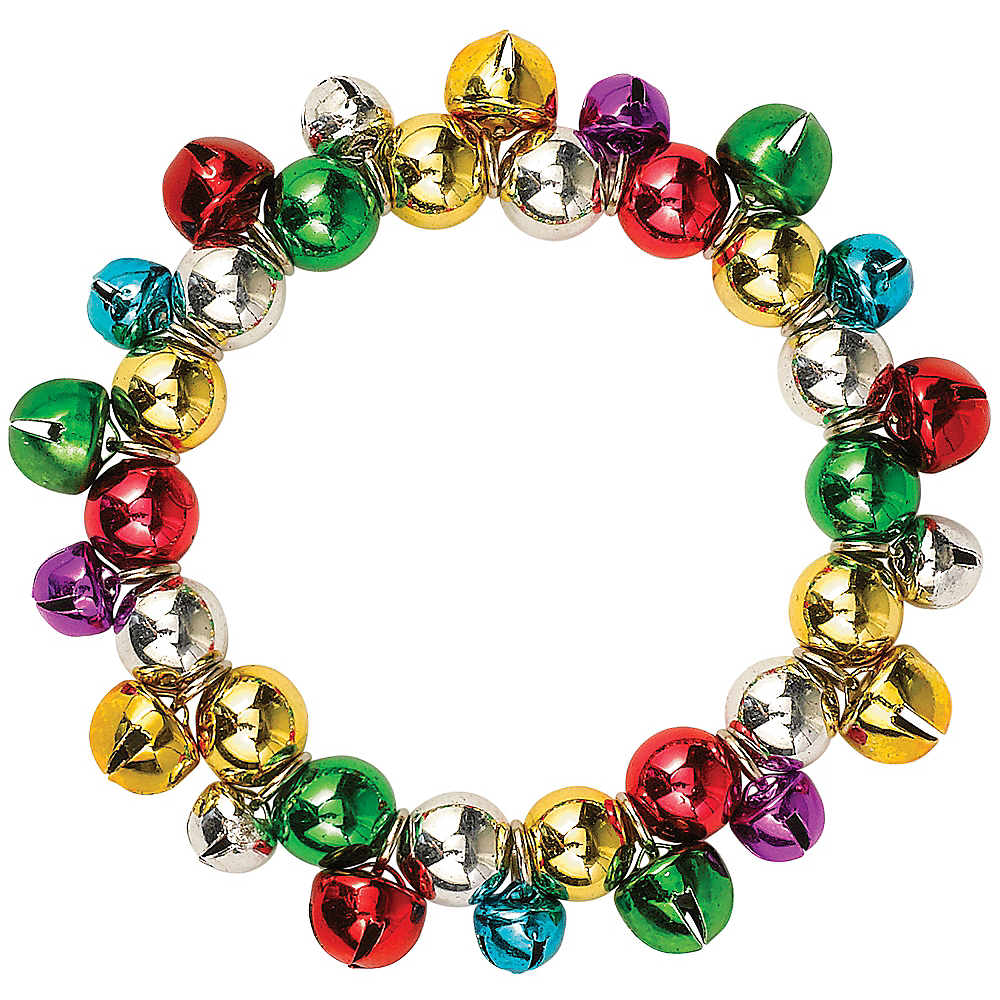 Rainbow Gold Jingle Bell Bracelet Image #1