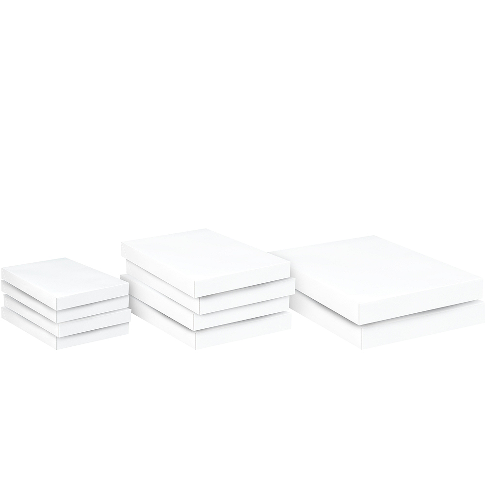 Assorted White Gift Boxes 10ct