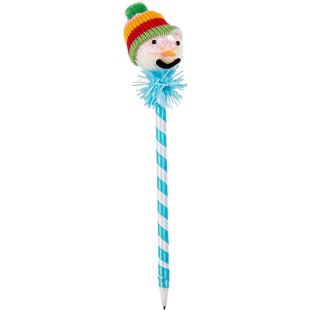 Blue Snowman Pen Image #1