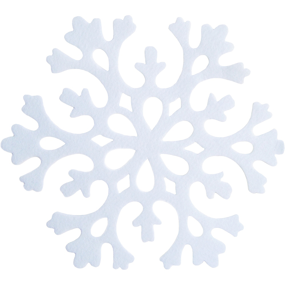Felt Snowflake Placemat 17in Party City
