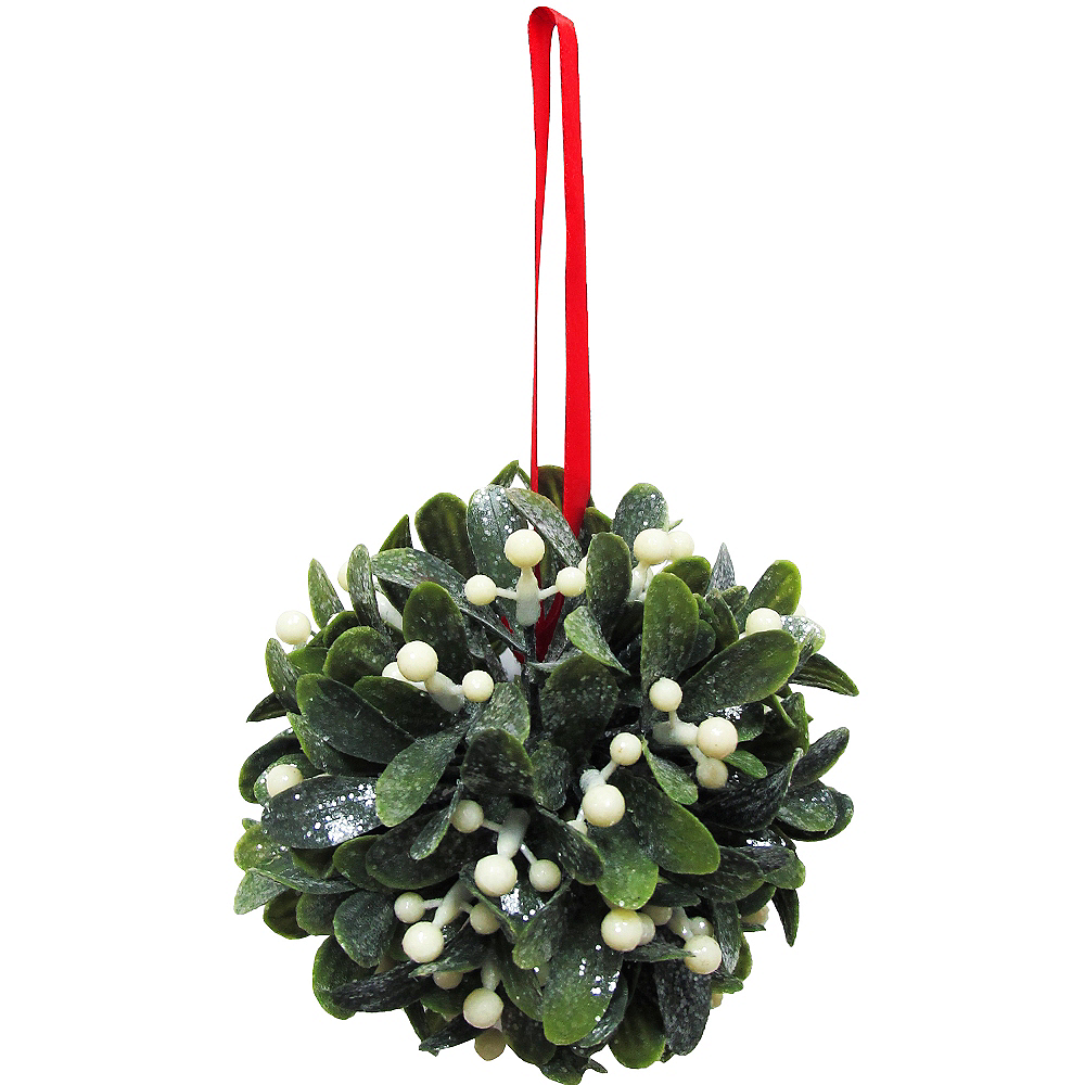Nav Item for Hanging Glitter Mistletoe Ball Image #1
