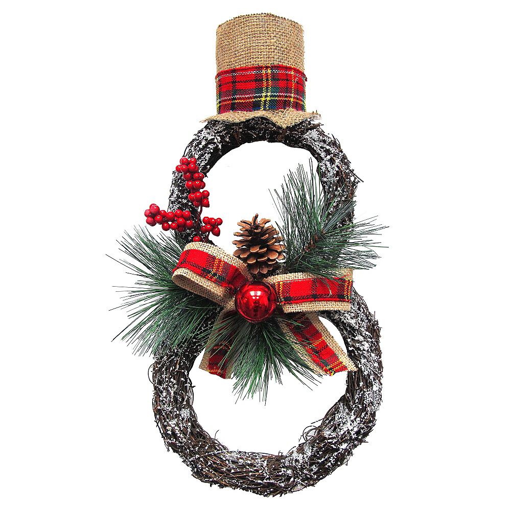 Twig Snowman Wreath Image #1