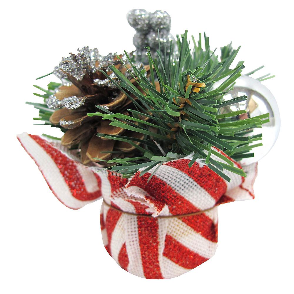 Striped Holiday Burlap Centerpiece Image #1
