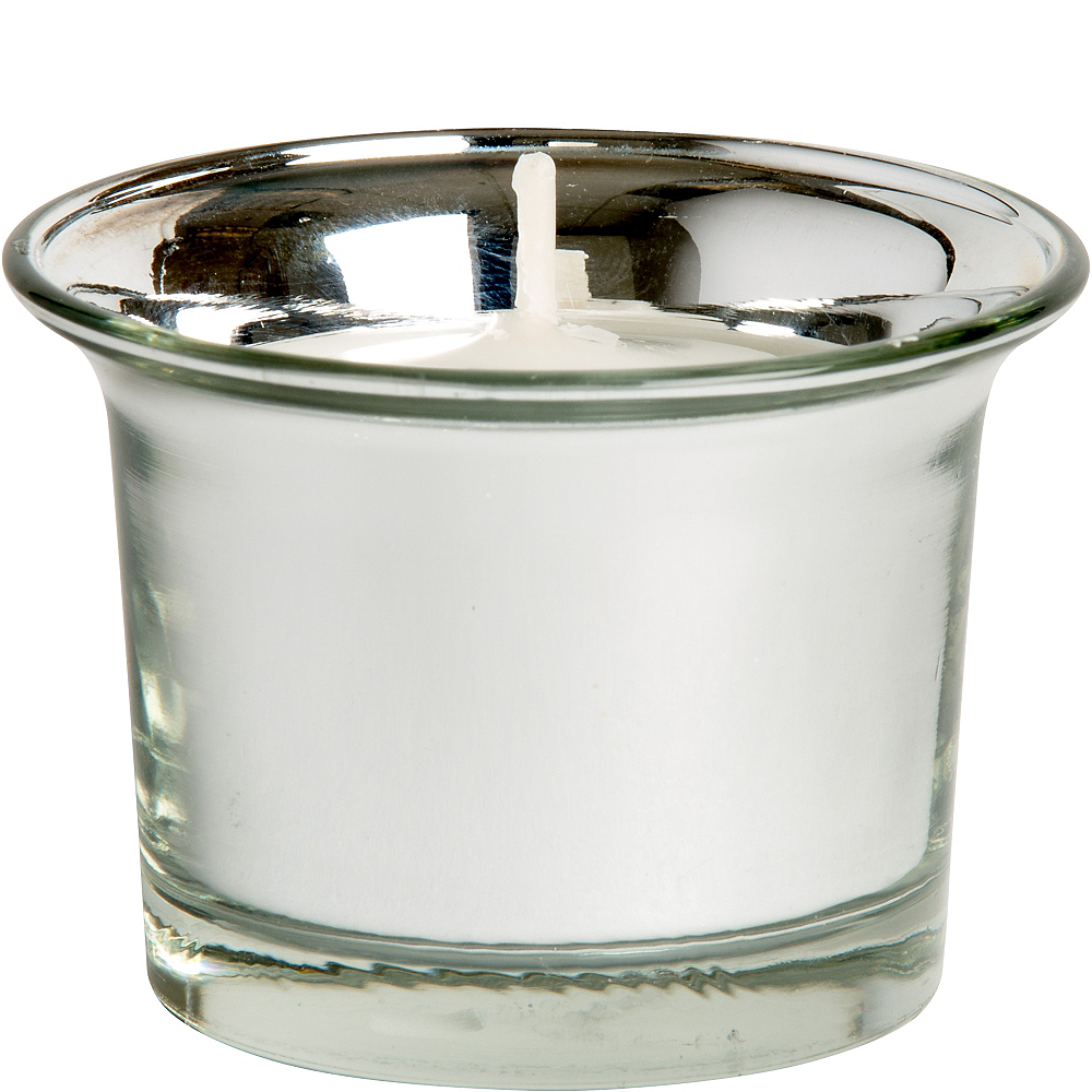Silver Oyster Tealight Candle Holders 8ct Image #2