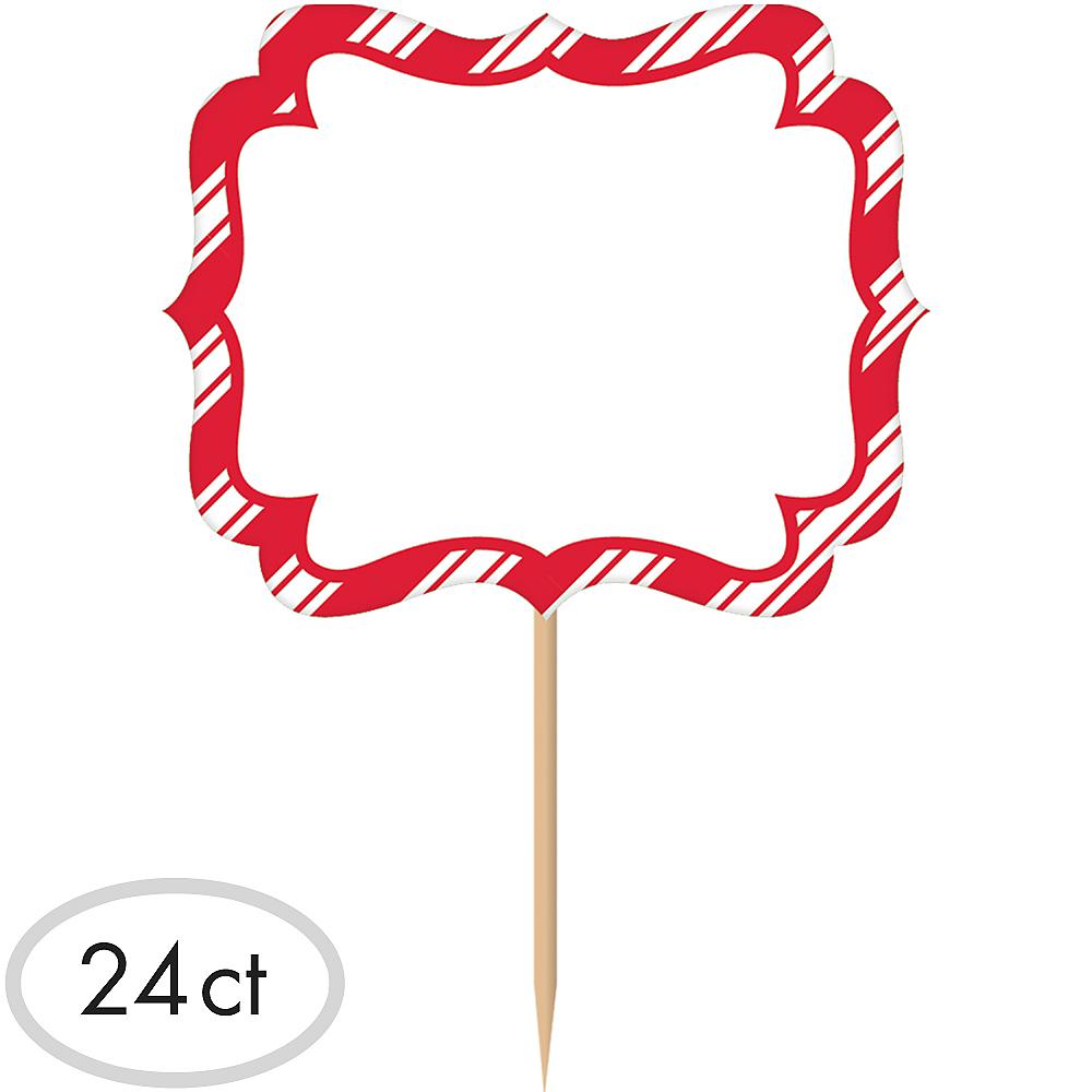 Red & White Striped Label Picks 24ct Image #1