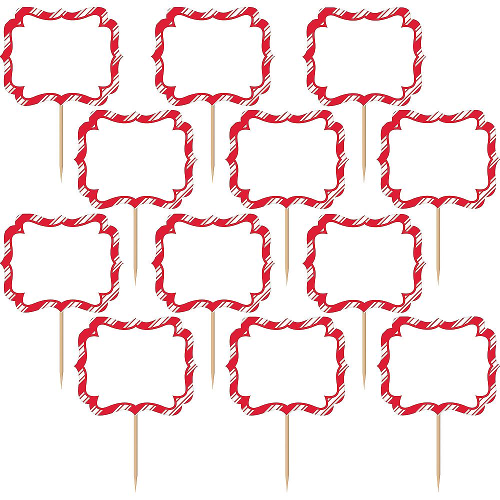 Red & White Striped Label Picks 24ct Image #2