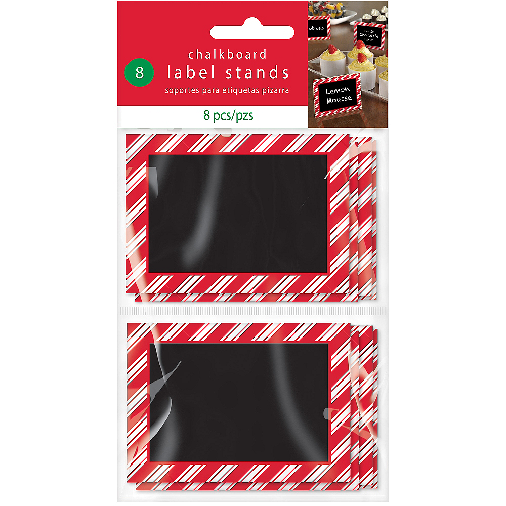 Red & White Striped Chalkboard Label Stands 8ct Image #2