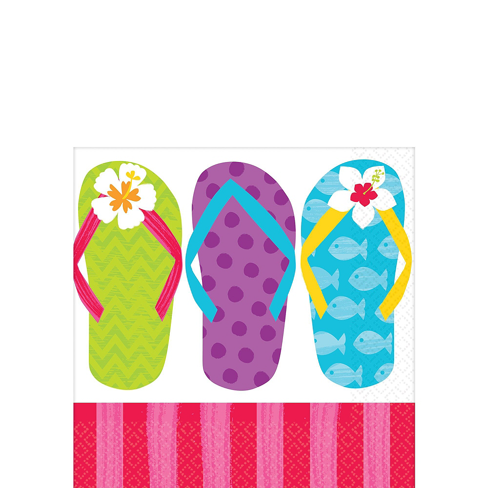 Bright Flip Flop Basic Party Kit for 60 Guests Image #4