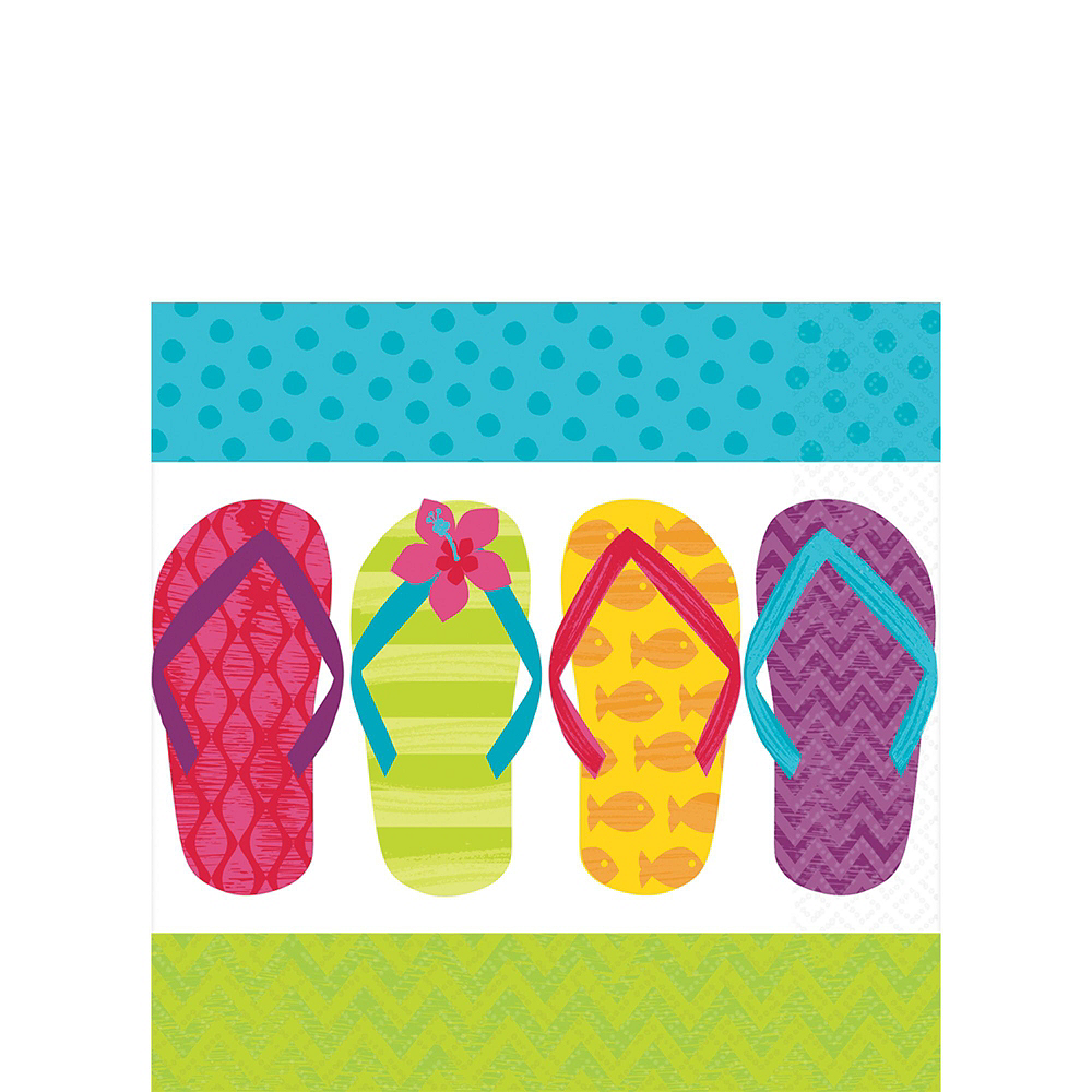 Bright Flip Flop Basic Party Kit for 60 Guests Image #5