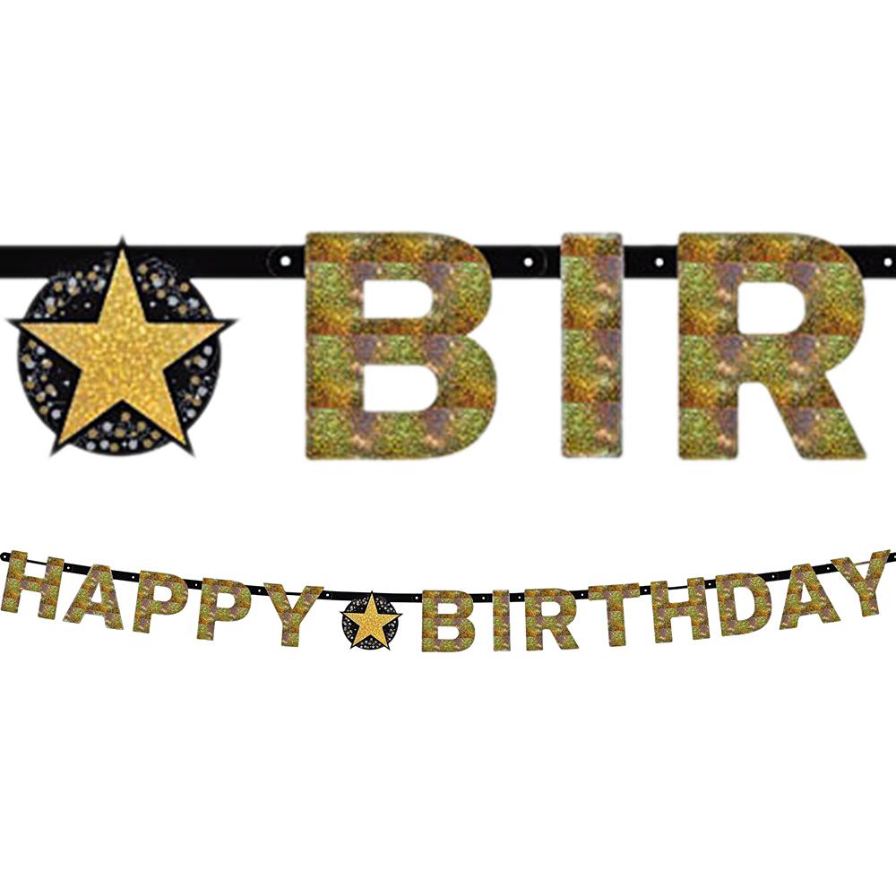 Prismatic Happy Birthday Banner - Sparkling Celebration Image #1