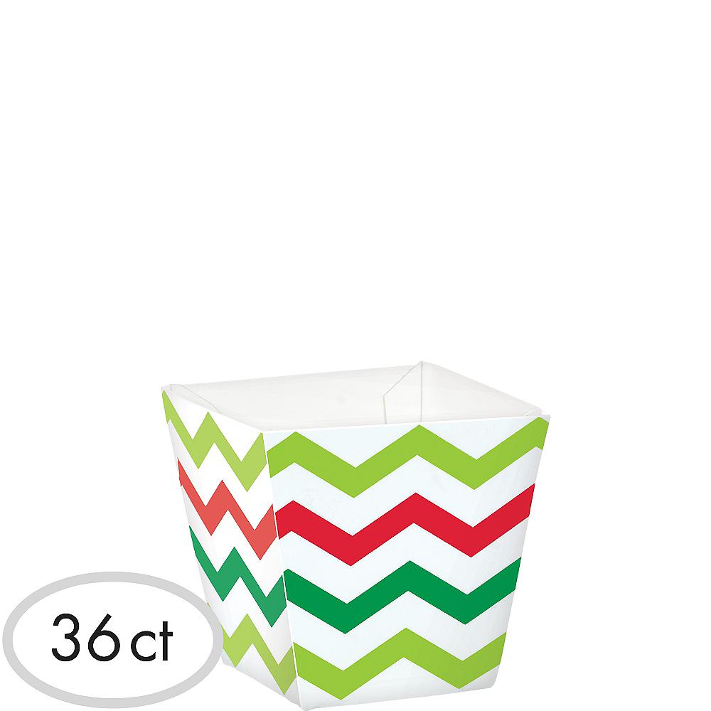 Mini Chevron Christmas Cubed Bowls 36ct Image #1