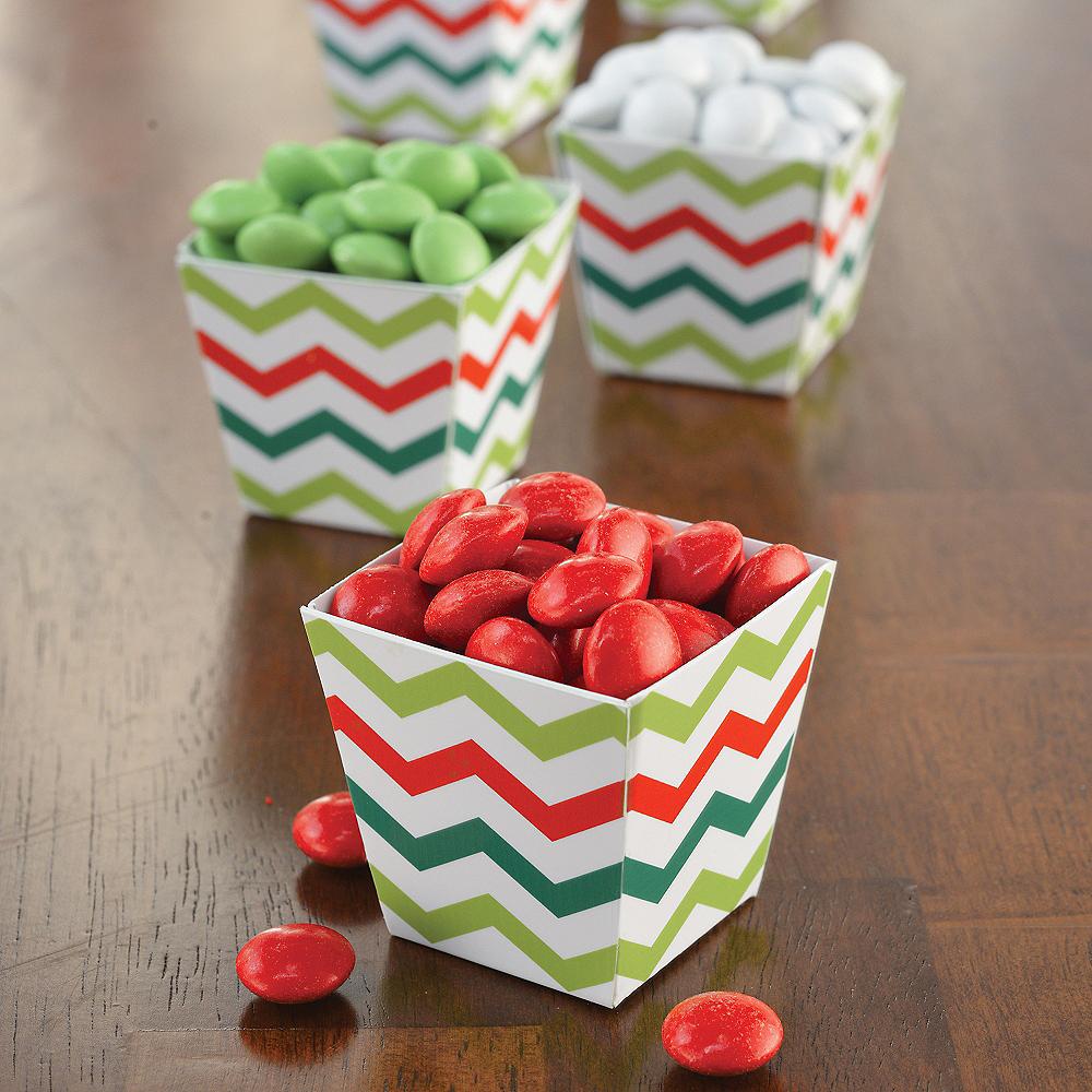 Mini Chevron Christmas Cubed Bowls 36ct Image #2