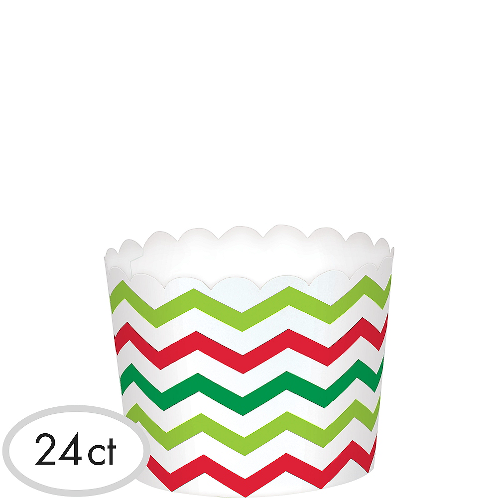 Nav Item for Chevron Christmas Scalloped Bowls 24ct Image #1