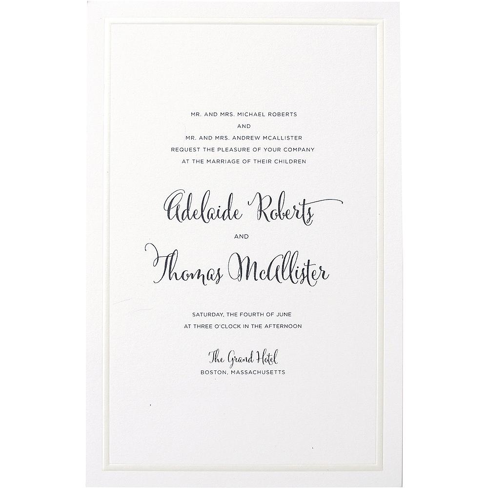 White Pearl Invitations 25ct Image #1