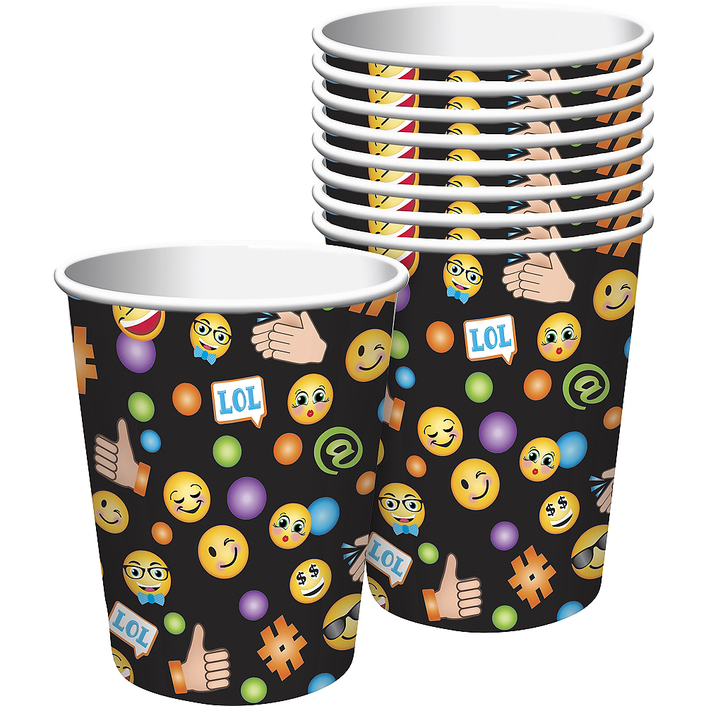 Smiley Cups 8ct Image #1