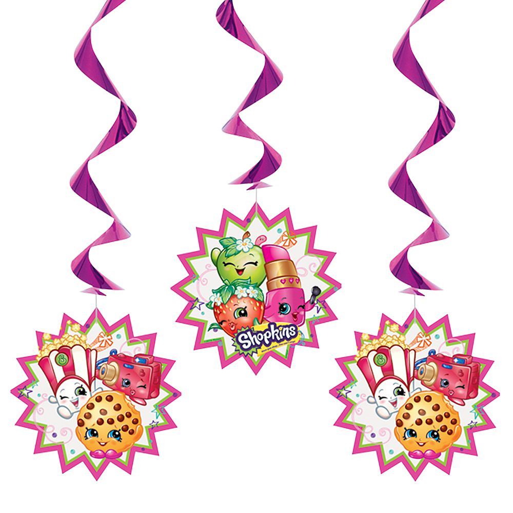 Shopkins Swirl Decorations 3ct Image #1