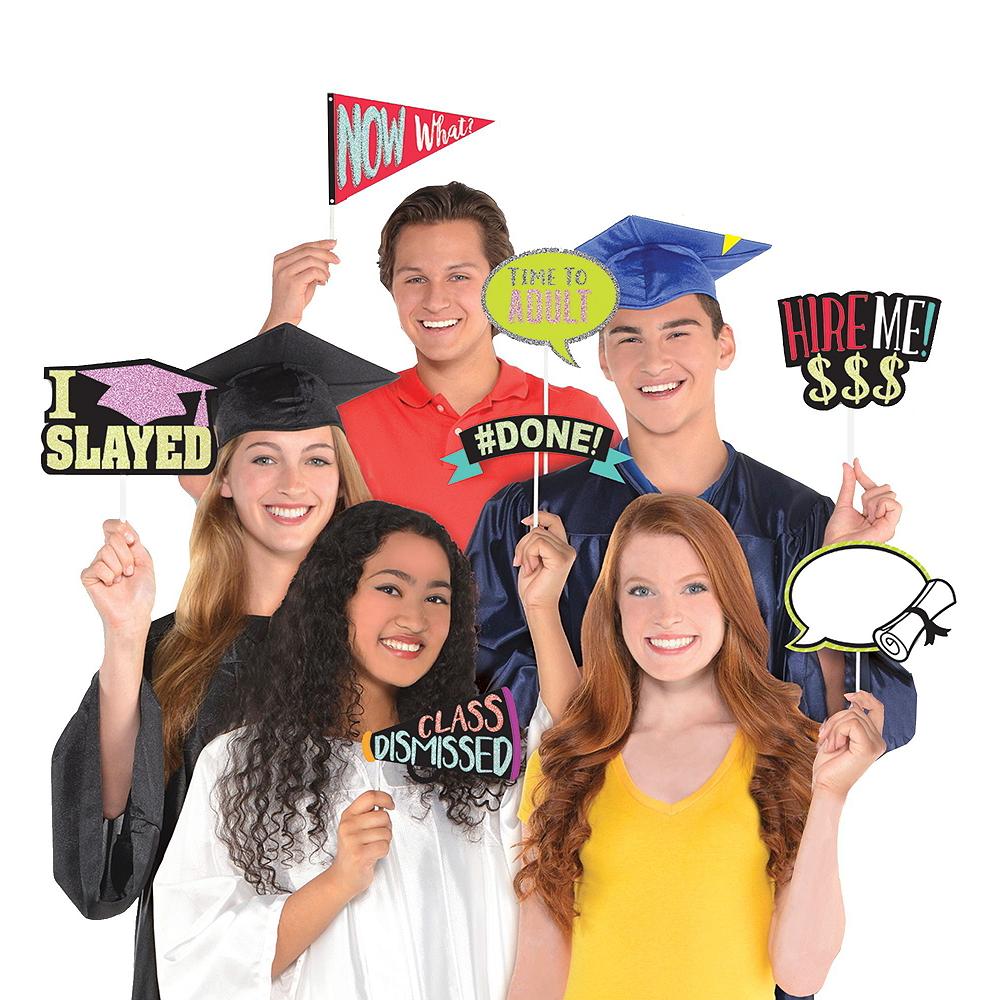 Black, Gold & Silver Graduation Photobooth Kit Image #4