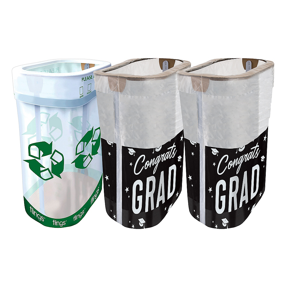Black, Gold & Silver Graduation Clean-Up Kit Image #1