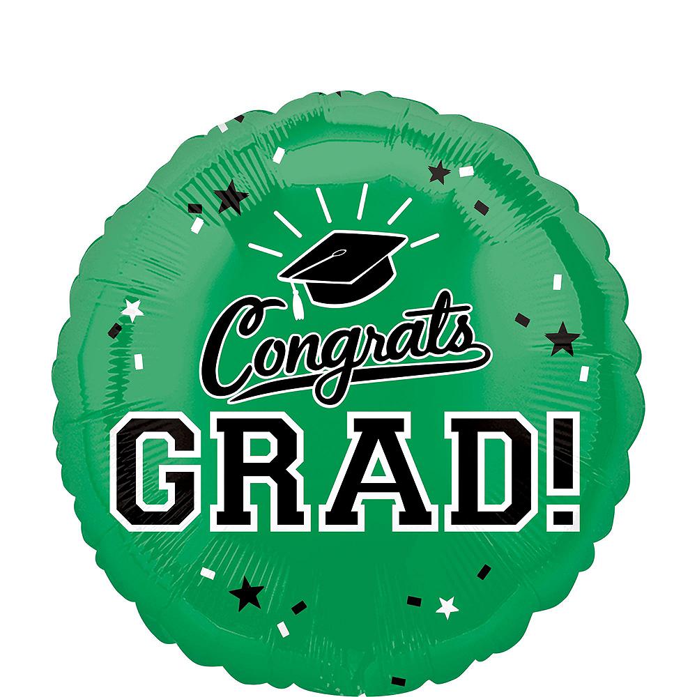 Green Graduation Balloon Bouquet 5pc Image #4