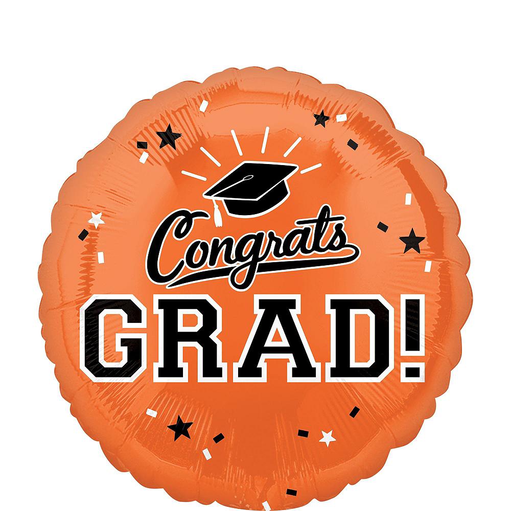 Orange Graduation Balloon Bouquet 5pc Image #3