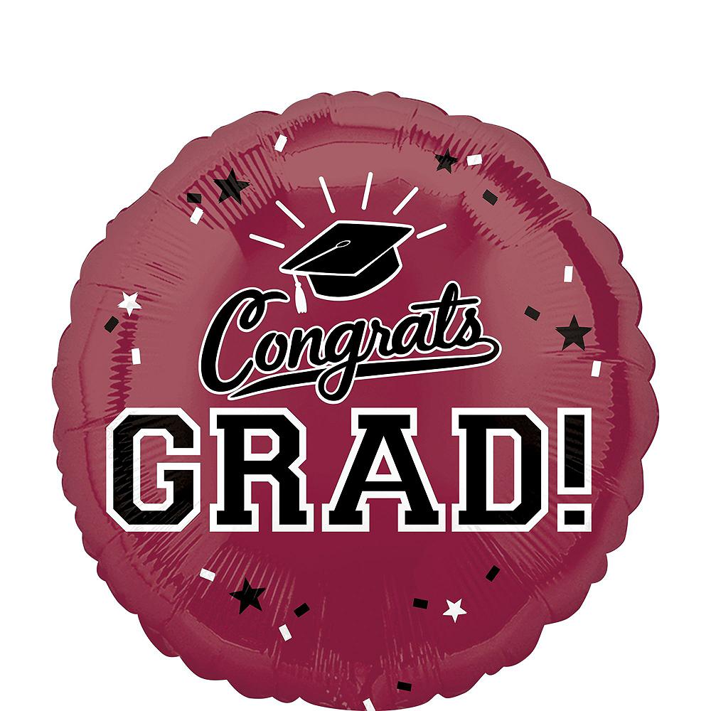 Berry Graduation Balloon Bouquet 5pc Image #2