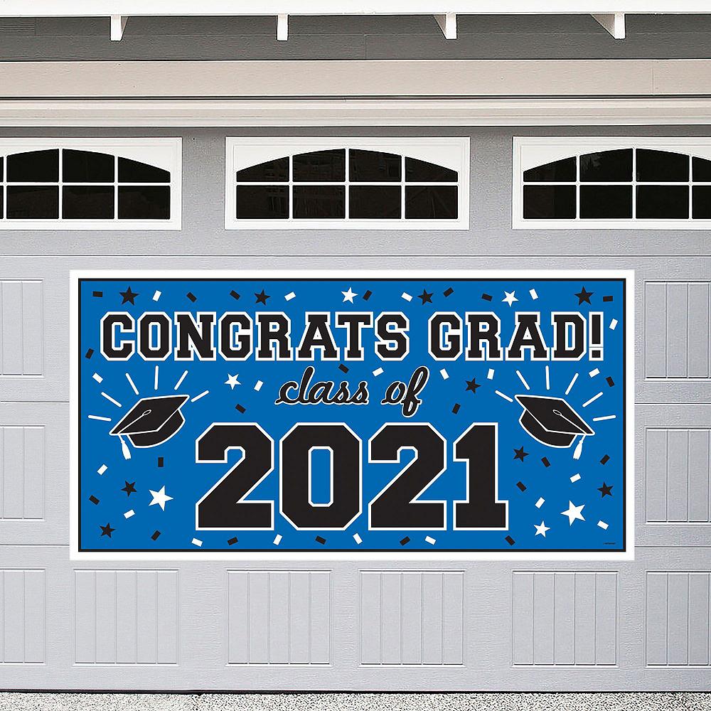 Royal Blue Graduation Wall Decorating Kit Image #2