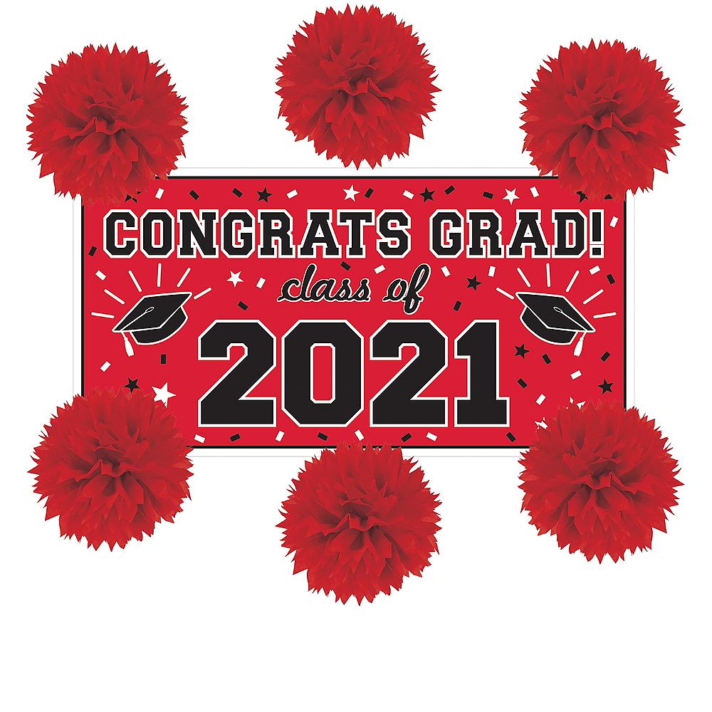 Red Graduation Wall Decorating Kit Image #1
