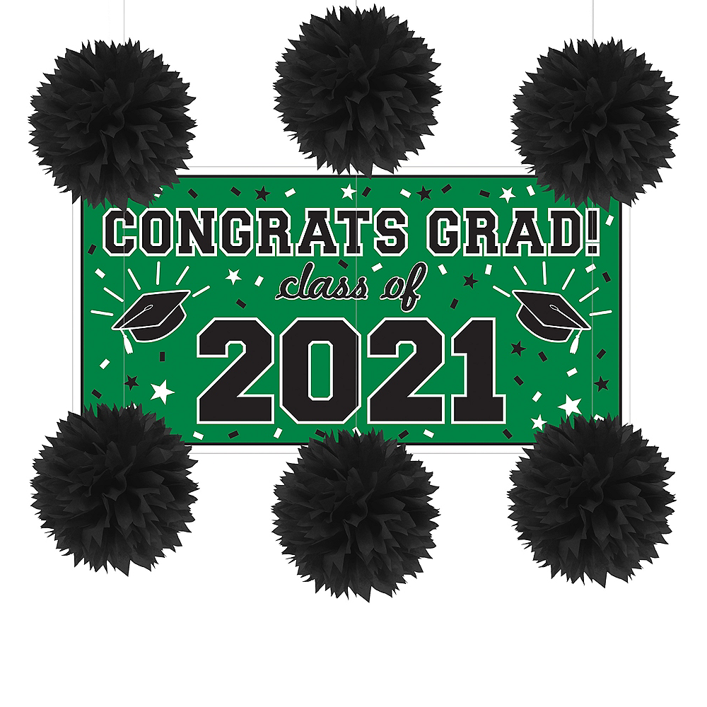 Green Graduation Wall Decorating Kit Image #1