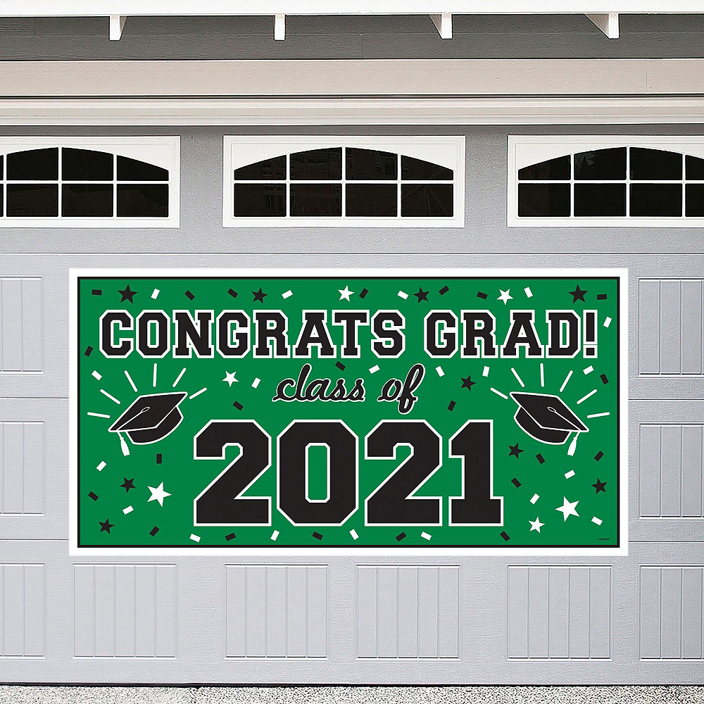Green Graduation Wall Decorating Kit Image #2