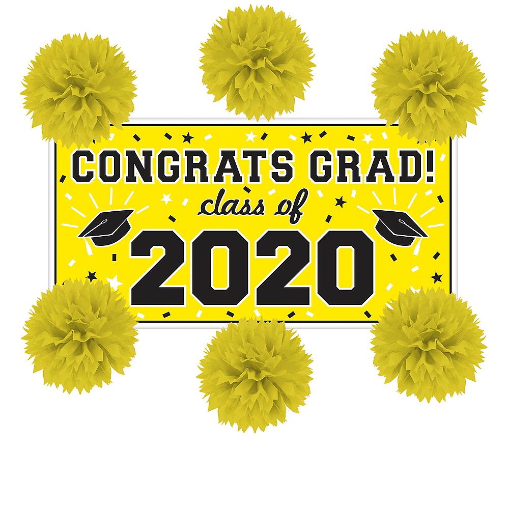 Yellow Graduation Wall Decorating Kit Image #1