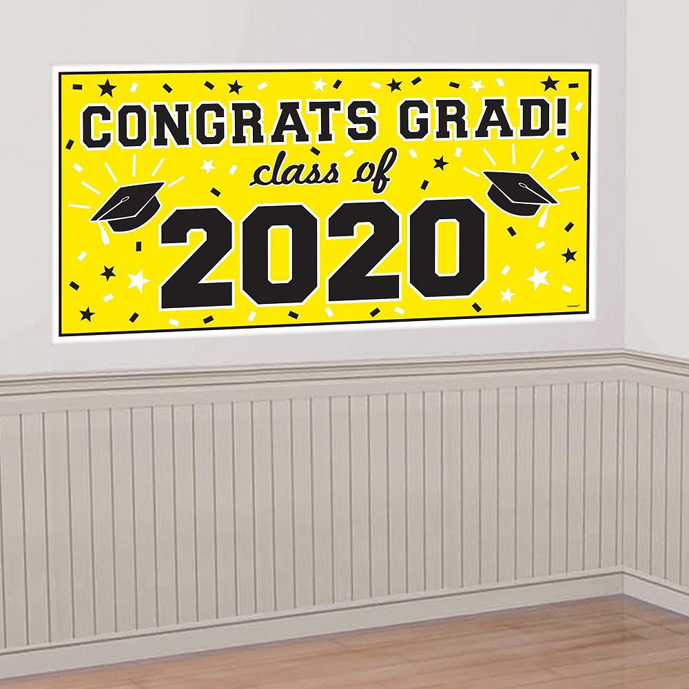 Yellow Graduation Wall Decorating Kit Image #2