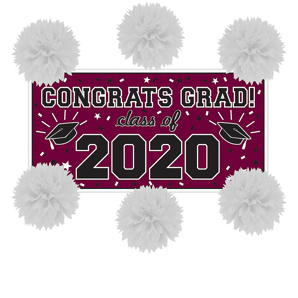Berry Graduation Wall Decorating Kit Image #1