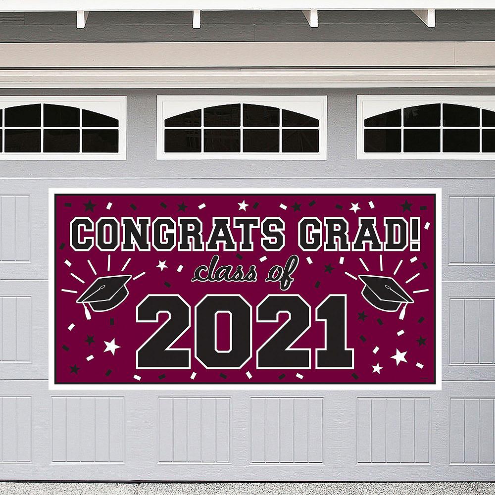 Berry Graduation Wall Decorating Kit Image #2