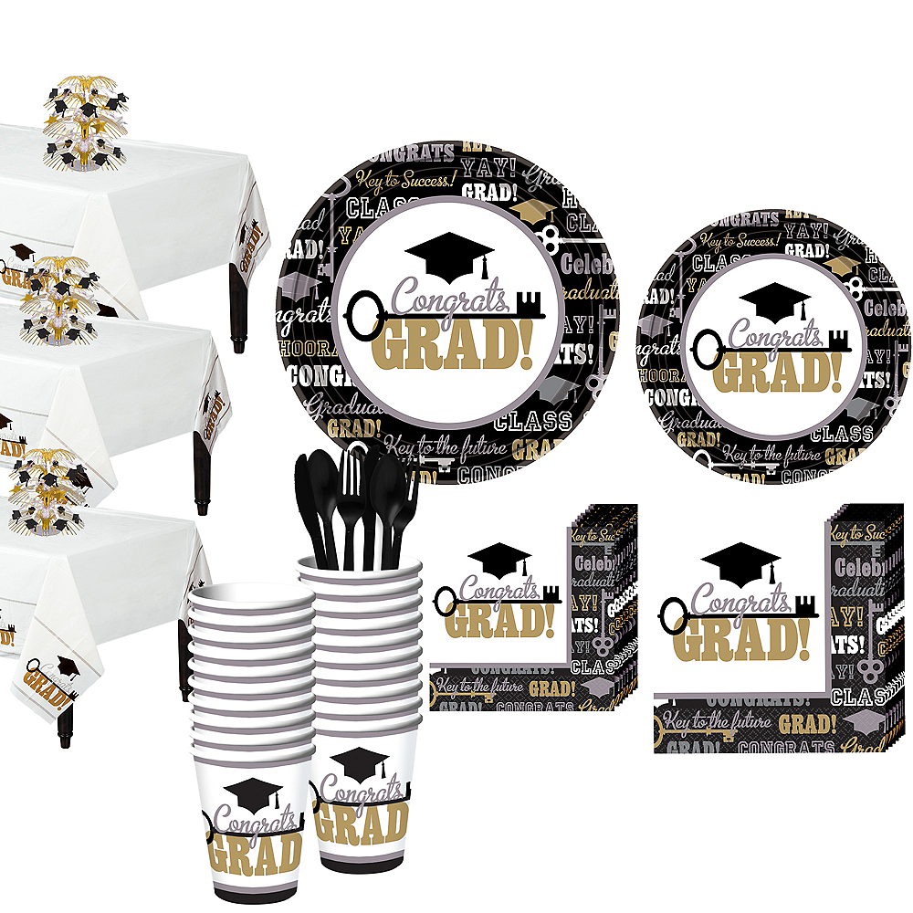 Key to Success Graduation Mega Tableware Kit Image #1