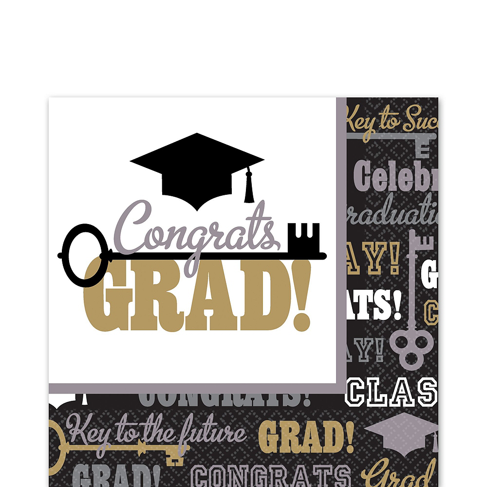 Key to Success Graduation Mega Tableware Kit Image #5
