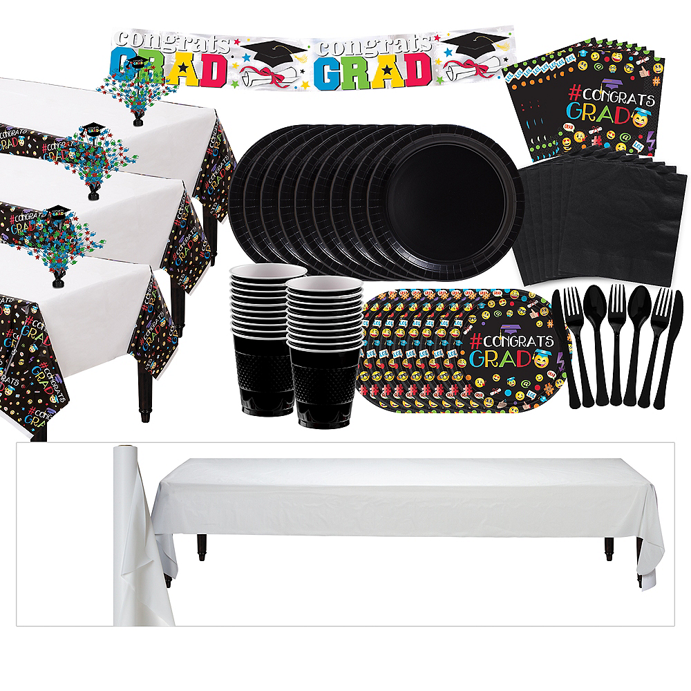 Smiley Graduation Grand Tableware Kit Image #1
