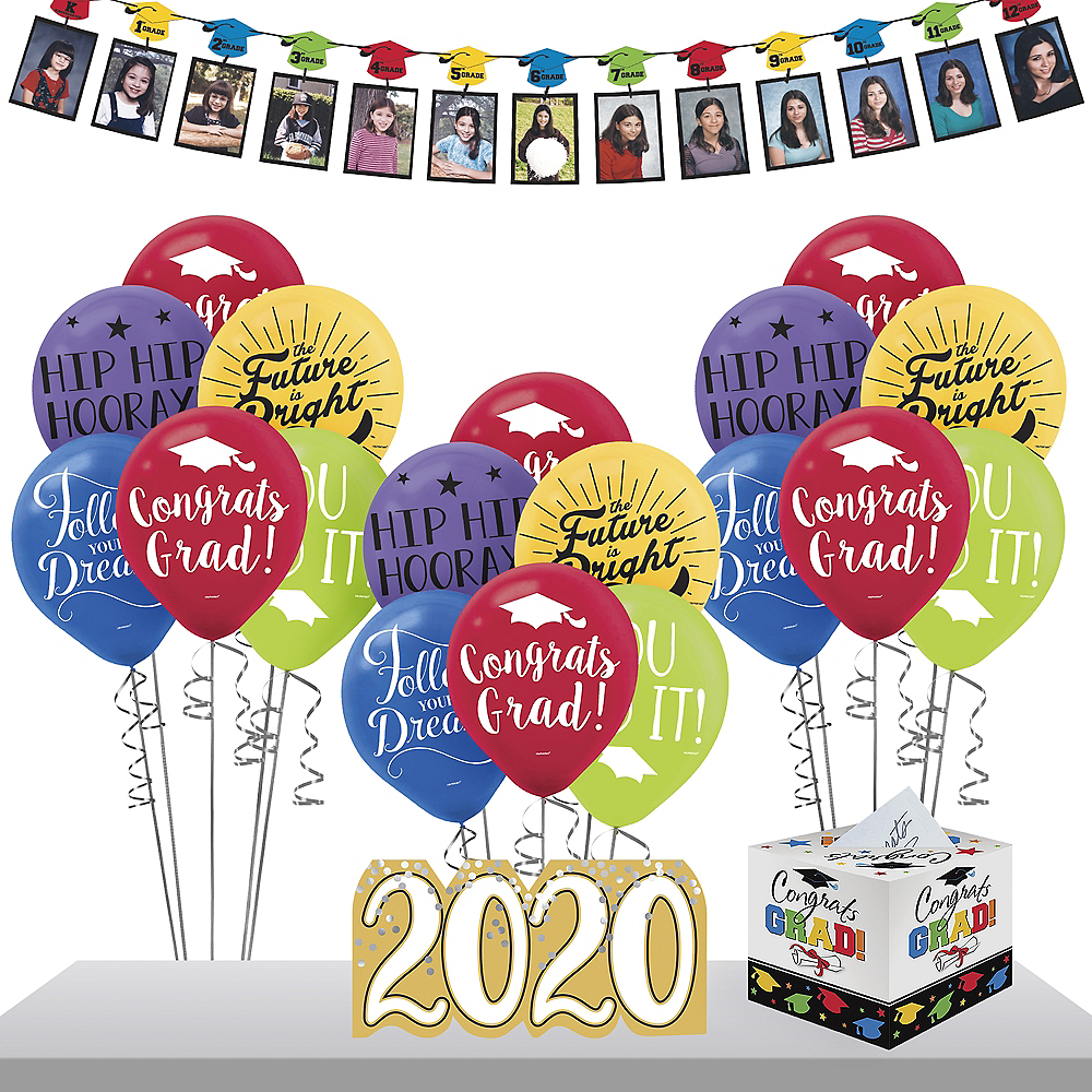 Multicolor Graduation Gift Table & Sign In Kit Image #1
