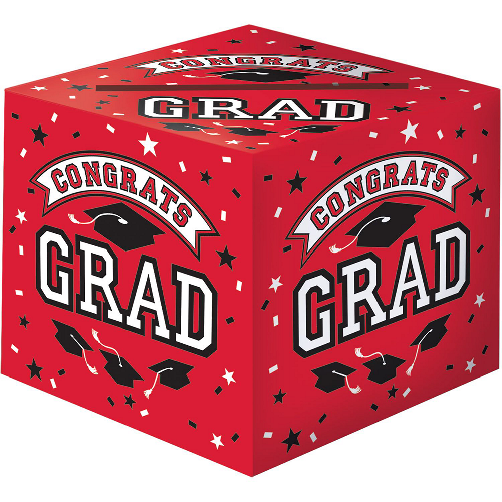Red Graduation Gift Table & Sign In Kit Image #2