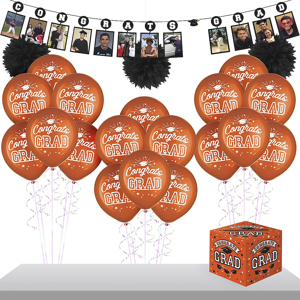 Orange Graduation Gift Table & Sign In Kit Image #1