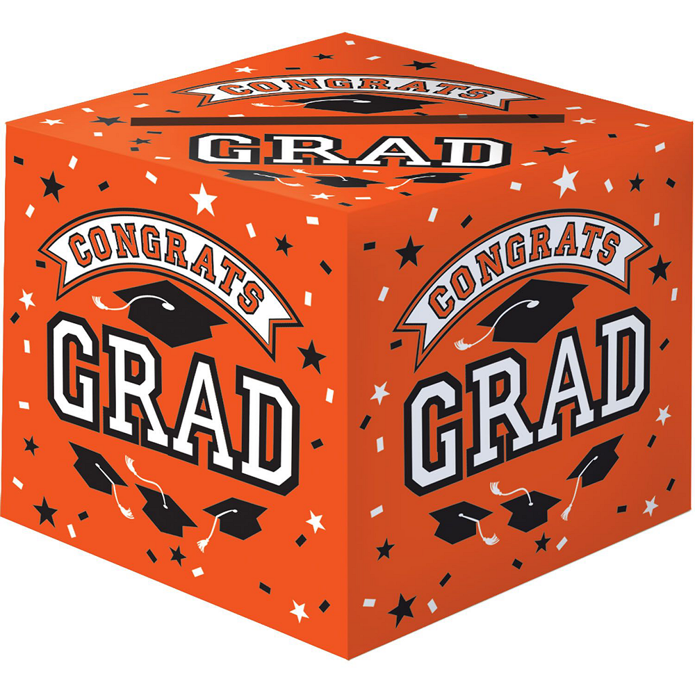 Orange Graduation Gift Table & Sign In Kit Image #2
