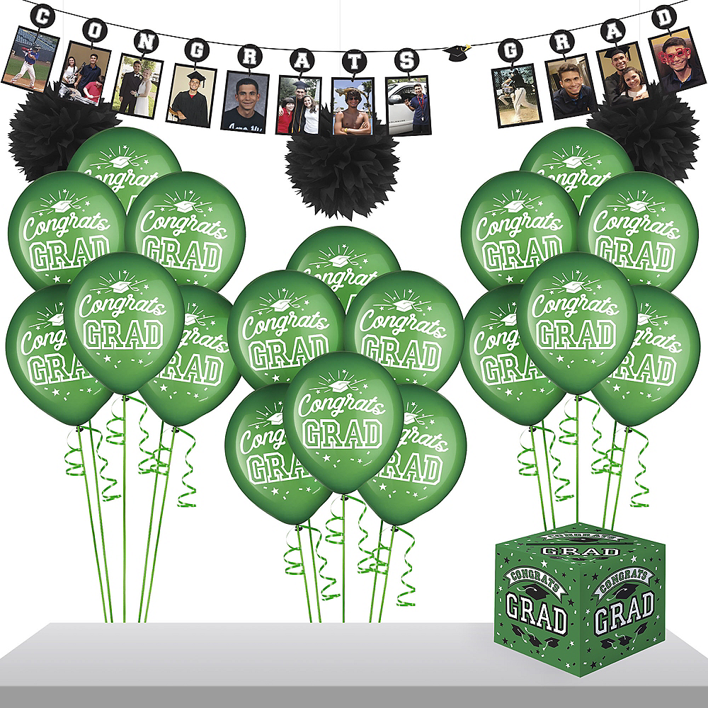 Green Graduation Gift Table & Sign In Kit Image #1