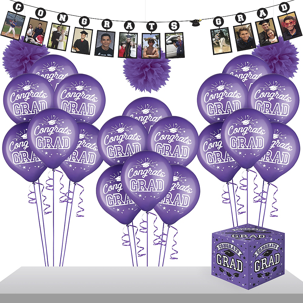 Purple Graduation Gift Table & Sign In Kit Image #1